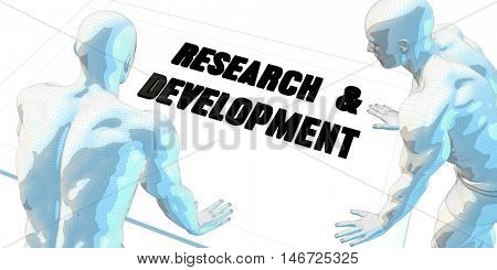 Research and Development Discussion and Business Meeting Concept Art 3D Illustration Render