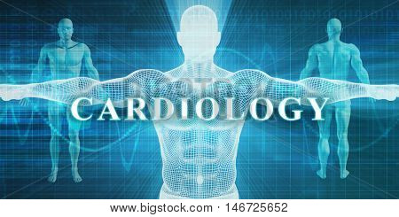 Cardiology as a Medical Specialty Field or Department 3D Render