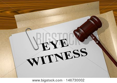 Eye Witness - Legal Concept
