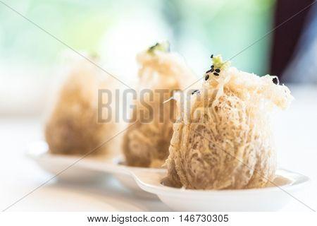 Chinese dim sum Fried taro dumplings - Chinese groumet cuisine