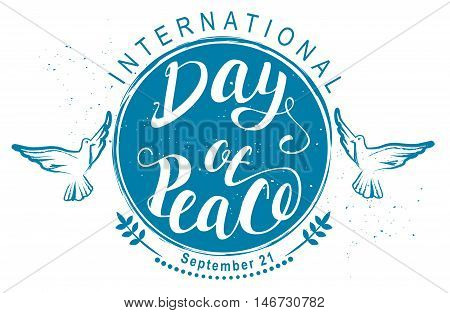 September 21 International Day of Peace. Illustration in vector format