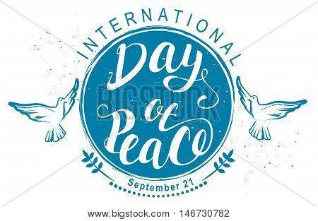 September 21 International Day of Peace. Illustration in vector format