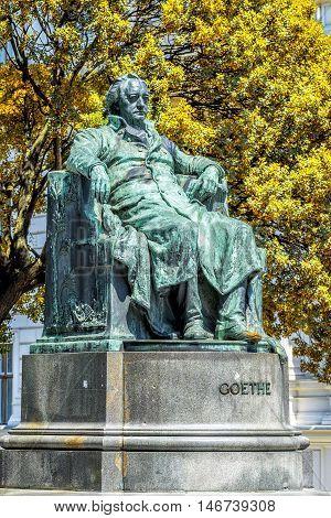 Statue Of Johann Wolfgang Von Goethe In Vienna, Austria.