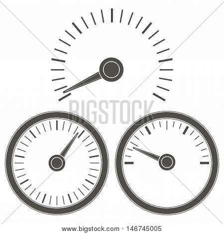 Measuring gauge dial outline. Vector illustration on white background