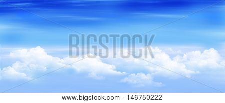 Clouds in a Blue Sky. Digital Painting Illustration of a white stratus clouds under a blue sky.