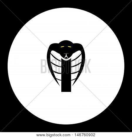 Black Cobra Snake Head Simple Isolated Icon Eps10