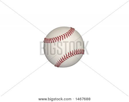 large baseball on white background cut out poster