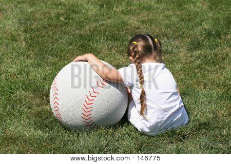 A Girl And Baseball