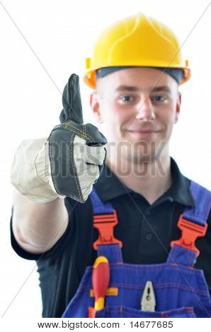 Worker Isolated On White