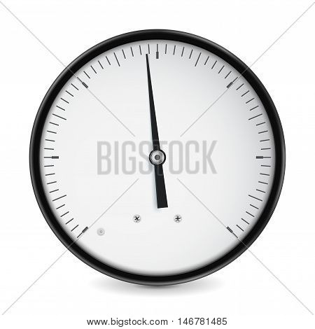 Speedometer blank. Speed measuring gauge. Universal. Vector illustration isolated on white background