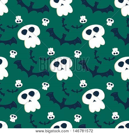 Halloween seamless pattern bat decoration ghost. Scary wallpaper horror design halloween seamless pattern spooky silhouette. Holiday october scary halloween seamless pattern fear texture.