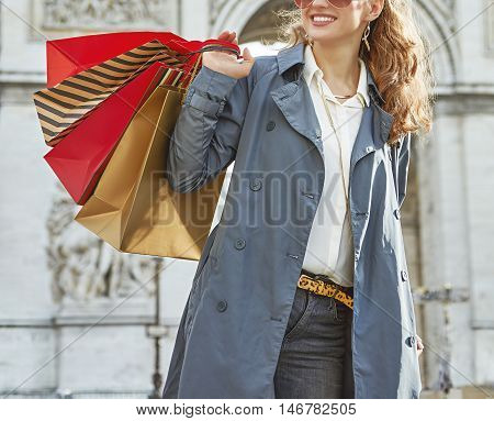 Happy Fashion-monger In Paris, France Looking Into Distance