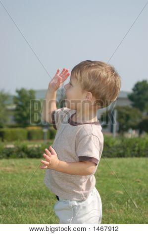 Boy Waving Bye Bye