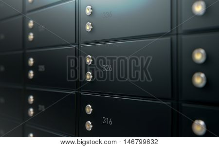 Black Safe Deposit Box Wall