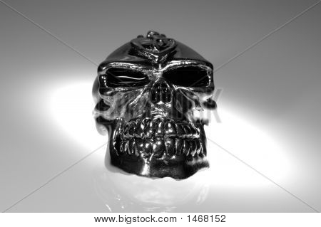 Photo of a Chrome / Silver SKull - Witchcraft / Demonology poster
