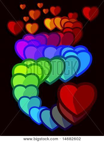 Colored Hearts