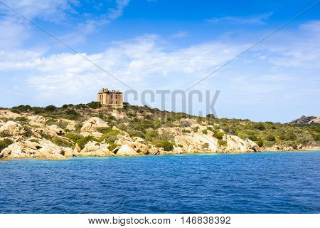 Island of the Archipelago of Maddalena in Sardinia