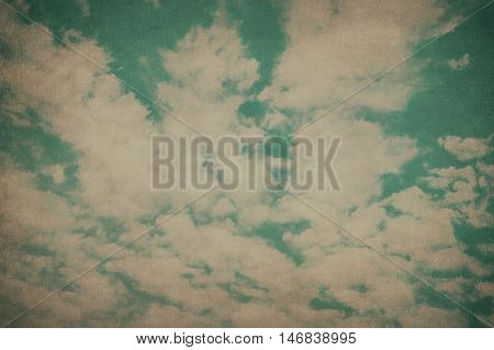 Abstract vintage background with clouds in the sky