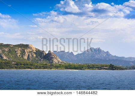 Landscape near Cannigione in the Archipelago of Maddalena in Sardinia