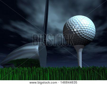 Night Golf  3D Render