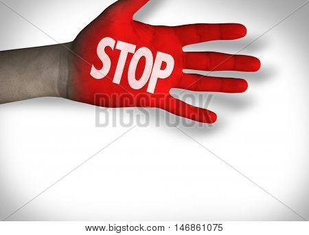 Stop Hand in a Concept Image