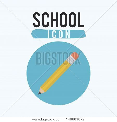 Pencil tool icon. Draw write school and instrument theme. Colorful design. Vector illustration