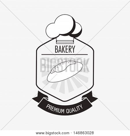 flat design bakery related emblem image vector illustration