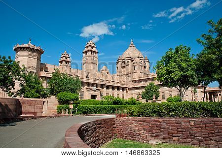 Umaid Bhawan palace hotel in Jodhpur in Rajasthan India