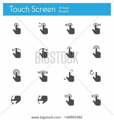 Touch Gesture Touch Screen Icons flat icon