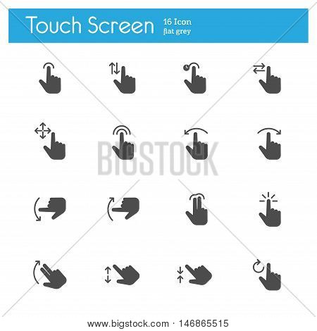 Touch Screen Touch Gesture Icons flat icon