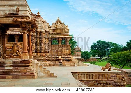 Devi Jagdambi Temple dedicated to Parvati Western Temples of Khajuraho. Unesco World Heritage Site. Popular amongst tourists all over the world.