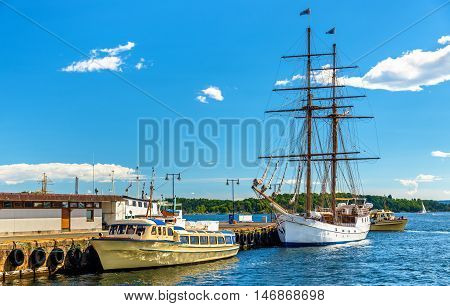 Old sailer in the Oslo Harbour - Norway