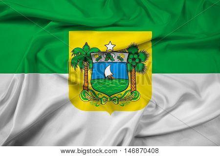 Waving Flag Of Rio Grande Do Norte State, Brazil