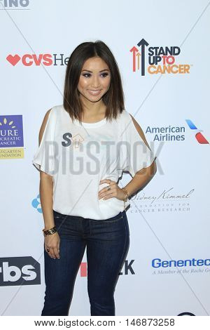 LOS ANGELES - SEP 9:  Brenda Song at the 5th Biennial Stand Up To Cancer at the Walt Disney Concert Hall on September 9, 2016 in Los Angeles, CA
