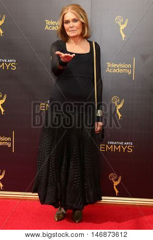 LOS ANGELES - SEP 11:  Gloria Steinem at the 2016 Primetime Creative Emmy Awards - Day 2 - Arrivals at the Microsoft Theater on September 11, 2016 in Los Angeles, CA