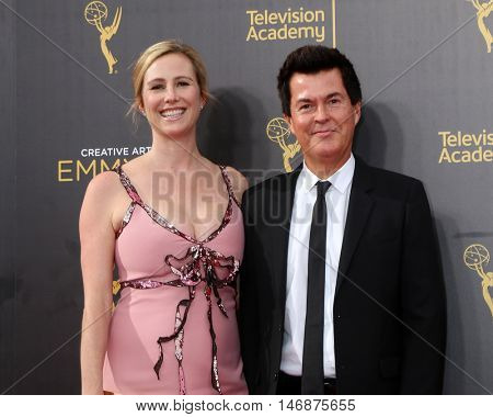 LOS ANGELES - SEP 11:  Natalie Swanston, Simon Fuller at the 2016 Primetime Creative Emmy Awards - Day 2 - Arrivals at the Microsoft Theater on September 11, 2016 in Los Angeles, CA