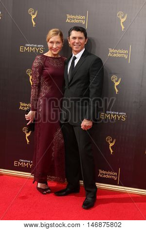 LOS ANGELES - SEP 11:  Yvonne Phillips, Lou Diamond Phillips at the 2016 Primetime Creative Emmy Awards - Day 2 - Arrivals at the Microsoft Theater on September 11, 2016 in Los Angeles, CA