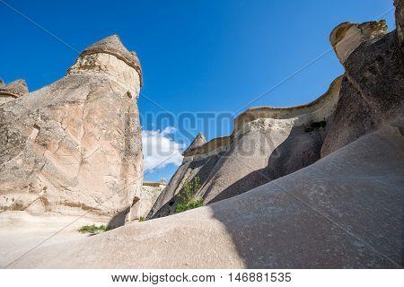 Cappadocia Anatolia Turkey. Volcanic mountains in Goreme national park