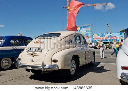 Exhibition Of Retro Cars Produced In The Ussr On The Forecourt In The City Day