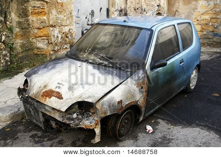 Devastated Car