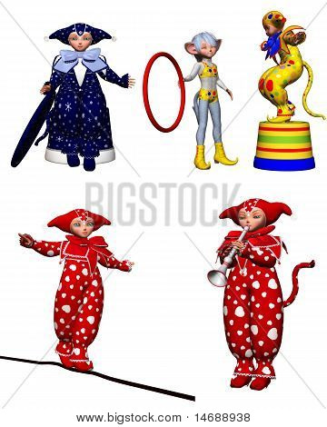 harlequin clowns