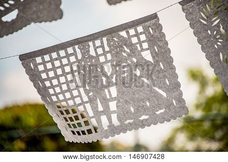 Mexican Cut Tissue Paper Banner Wedding Decoration