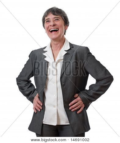 laughing mature businesswoman
