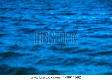 Abstract background of defocused blured blue sea