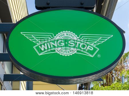 Wingstop Restaurant Sign And Logo