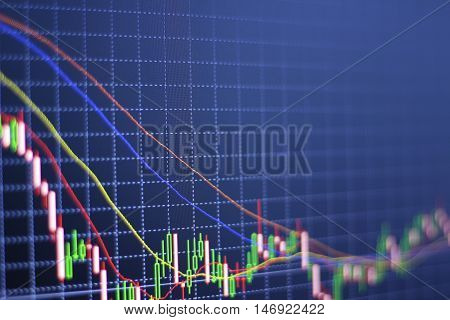 Stock Market Information and Graph. Trend of forex.
