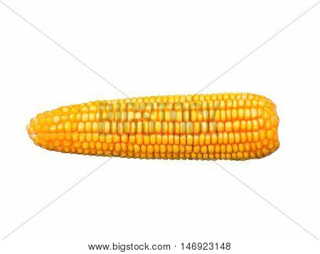 yellow Dried corn for animal. isolated on white background.