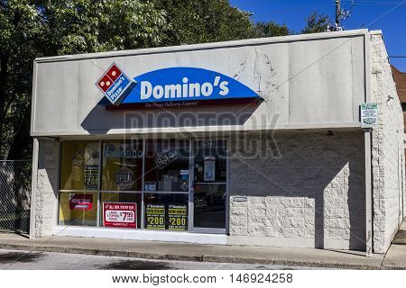 Indianapolis - Circa September 2016: Domino's Pizza Carryout Restaurant. Domino's has been named Chain of the Year three times IV
