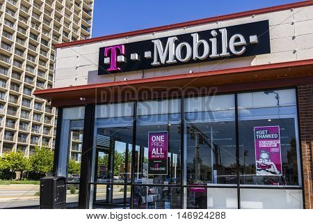 Indianapolis - Circa September 2016: T-Mobile Retail Wireless Store. T-Mobile is a wireless provider offering cell phones data plans and accessories VI