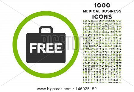 Free Accounting rounded glyph bicolor icon with 1000 medical business icons. Set style is flat pictograms, eco green and gray colors, white background.